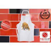 Konyhai Kötény Bulldogos - Bulldograjz színes angol bulldoggal