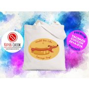 Tacskós Vászontáska - Tacskó Sausage Dog mintával Tacsis Cuccok White Collection