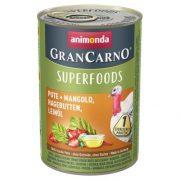 Animonda GranCarno Adult Superfoods Pulyka + mángold, csipkebogyó, lenolaj   400g