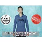 Bulldog Streetwear Női kapucnis pulóver - BSW Peace, Love, Bulldog mintával Több színben