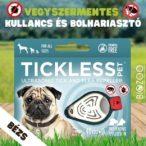 Vegyszermentes ultrahangos kullancs- és bolhariasztó medál kutyáknak és macskáknak, TICKLESS - bézs