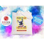 Bulldogos vászontáska Pardon  My Frenchie mintával BulldogArt Kollekció