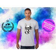 Bulldogos Férfi Póló - Bulldog Streetwear BulldogArt Francia Bulldog Black Glass mintával