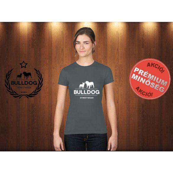 Bulldog Streetwear Női Póló - Klasszikus Logó mintával Szín: Sötétszürke