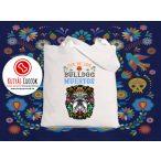 Bulldogos vászontáska Bulldog Muertos mintával BulldogArt Kollekció