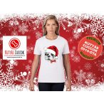 Bulldogos Karácsonyi Női Póló - Bulldog Streetwear French Bull Santa Frenchie mintával