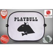 Bullterrieres Autós Napellenző Napvédő - Bullterrier Playbull mintával