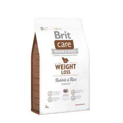 Brit Care Hypoallergenic Weight Loss 3kg Nyulas Rizses Száraztáp Túlsúlyos Kutyáknak Rabbit&Rice