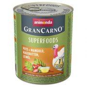 Animonda GranCarno Adult Superfoods Pulyka + mángold, csipkebogyó, lenolaj  800g