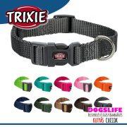 Trixie Prémium Színes Nyakörv S, 25-40cm/15mm - Erős, strapabíró szövéssel  több színben