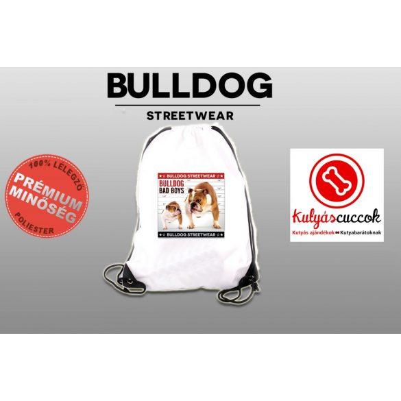 Tornazsák - Bulldog Streetwear Bad Boys Lucky Bulldog mintával