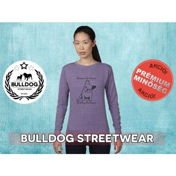 Bulldog Streetwear Női pulóver - BSW Bonjour la France mintával Több színben