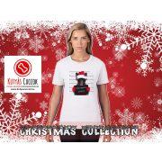 Bulldogos Karácsonyi Női Póló - Bulldog Streetwear French Bull Bad Santa mintával