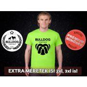 Bulldog Streetwear Férfi Póló - Big Bull mintával Extra méretben is! 2XL, 3XL is! Szín: Neon Green