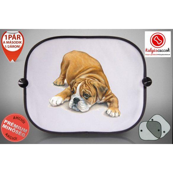 Autós Napellenző - Bulldog rajzos
