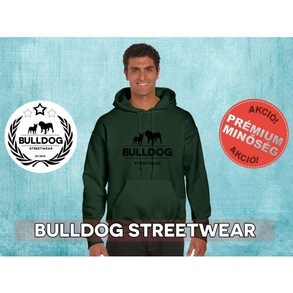 Bulldog Streetwear Férfi kapucnis pulóver - BSW Klasszikus logó mintával Több színben