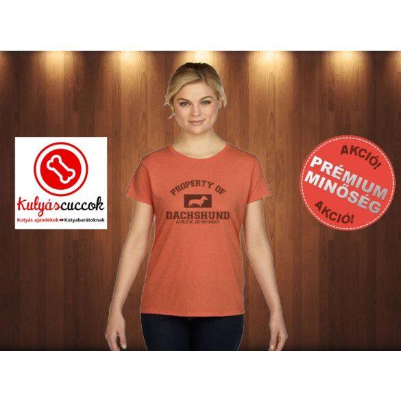 Tacskó Női Póló - Property of dachshund  mintával minden méretben
