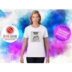 Tacskós Női Póló - Tacsi Dachshund Comic Trooper Tacskós Cuccok White Collection mintával