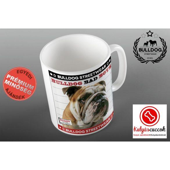 Bulldogos Bögre - Bulldog Streetwear Bad Boys Lucky Bulldog angol bulldogos grafikával