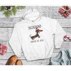 Tacskós Karácsonyi Férfi Pulcsi - Tacsi Dachshund Through The Snow mintával