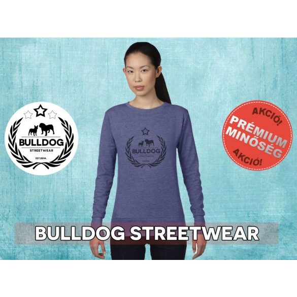 Bulldog Streetwear Női pulóver - BSW Koszorús logó mintával Több színben