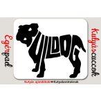 Bulldogos Egérpad - Bulldog Fekete grafikával