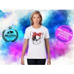 Bulldogos Női Póló - Bulldog Streetwear French BulldogArt Francia bulldog Red Bandana mintával