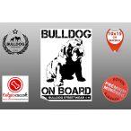 Autós Angol Bulldog Matrica - Bulldog Streetwear Angol Bulldog Minta4  10x15cm