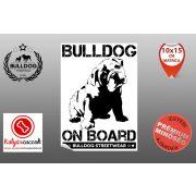 Autós Angol Bulldog Matrica - Bulldog Streetwear Angol Bulldog Minta4  Több méretben