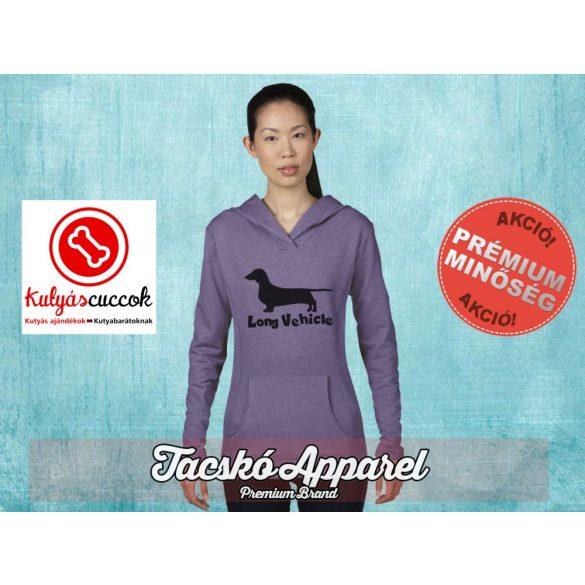 Tacskós Női kapucnis pulóver - Tacskó Long Vehicle mintával Több színben