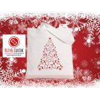 Tacsis Karácsonyi vászontáska  Dachshund  Christmas Tree