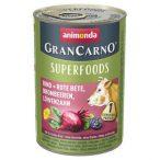 Animonda GranCarno Adult Superfoods Marha + cékla, szeder, pitypang  400g