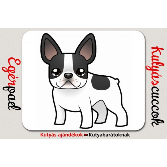 Bulldogos Egérpad - Francia Bulldog Cartoon