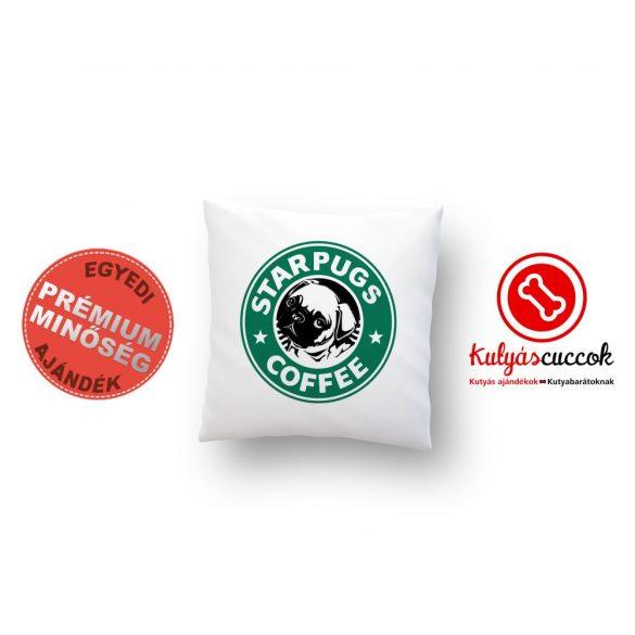 Mopszos párna - Mopsz Starpugs Cafe 40x40cm