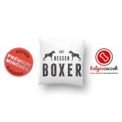 Boxeres párna - Boxer díszpárna Gut, Besser, Boxer két boxerrel 40x40cm