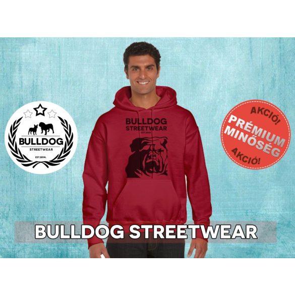 Bulldog Streetwear Férfi kapucnis pulóver - Bulldog Steetwear Est.2014. bulldog mintával Több színben