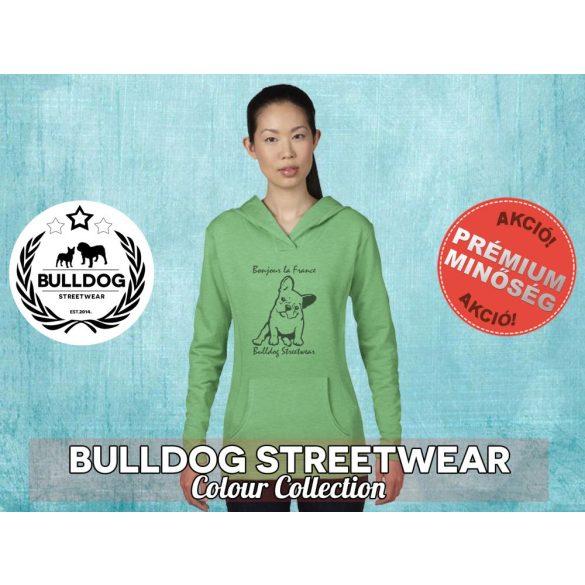 Bulldog Streetwear Női kapucnis pulóver - Bonjour la France mintával Több színben