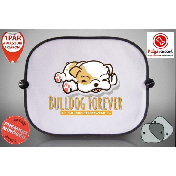 Autós Napellenző - Bulldog Forever - Barna