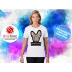 Bulldogos Női Póló - French BulldogArt  Frenchie Mom mintával - Bulldog Streetwear Bulldogos Cuccok