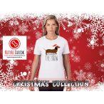 Tacskós Karácsonyi Női Póló - Dachshund Through The Snow mintával