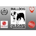 Autós Angol Bulldog Matrica - Bulldog Streetwear Angol Bulldog Minta5  10x15cm