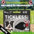 Vegyszermentes ultrahangos kullancs- és bolhariasztó medál kutyáknak és macskáknak, TICKLESS - fekete