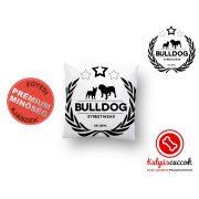Párna Bulldog Bulldog Streetwear Koszorús Logo 35x35cm