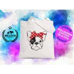 Bulldogos vászontáska BulldogArt Kollekció Francia Bulldog Bandana mintával
