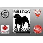 Autós Angol Bulldog Matrica - Bulldog Streetwear Angol Bulldog Minta2  10x15cm