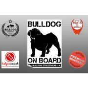 Autós Angol Bulldog Matrica - Bulldog Streetwear Angol Bulldog Minta2  Több méretben