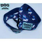 Dog Walking Apparel kék unikornis nyakörv és póráz szett