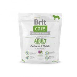 Brit Care Hypoallergenic Adult Large Breed 1kg Gabonamentes Száraztáp Grain Free Salmon&Potato