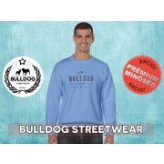 Bulldog Streetwear Férfi környakas pulóver - BSW Vintage lbulldog ogó mintával Több színben