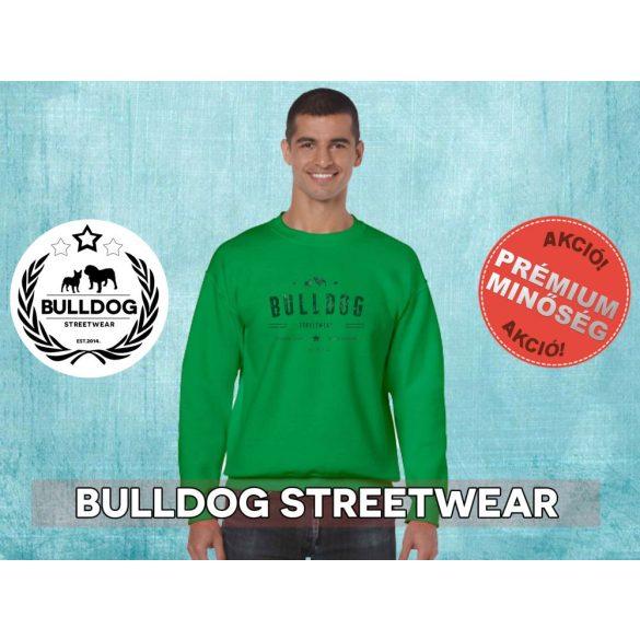 Bulldog Streetwear Férfi környakas pulóver - BSW Vintage bulldog ogó mintával Több színben